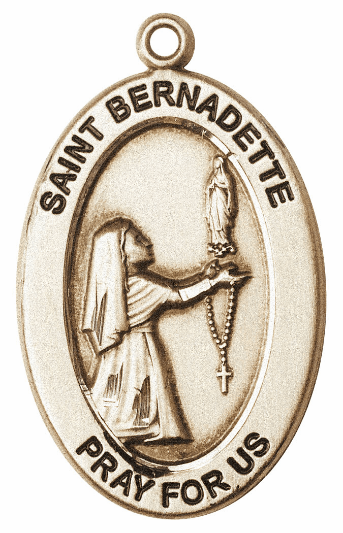 Bliss Mfg Saint Bernadette 14kt Gold Medal Pendant