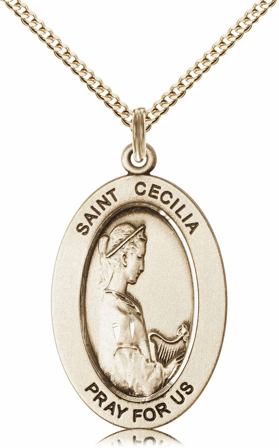 Bliss Mfg Saint Cecilia 14kt Gold-filled Medal Necklace w/Chain