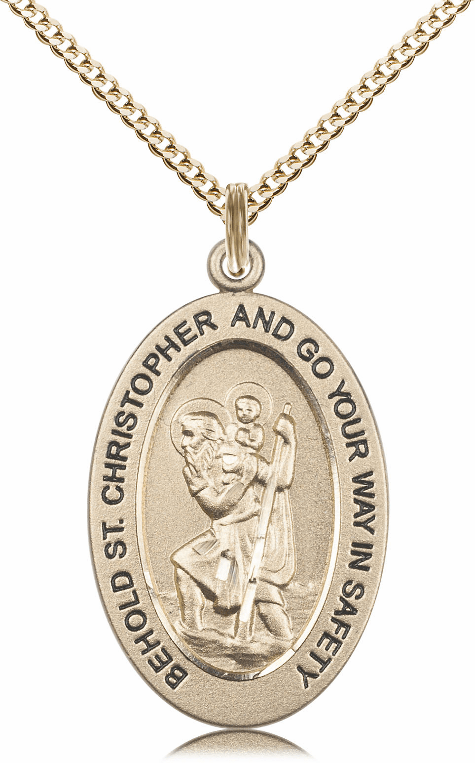 Bliss Mfg Saint Christopher 14kt Gold-filled Medal Necklace w/Chain
