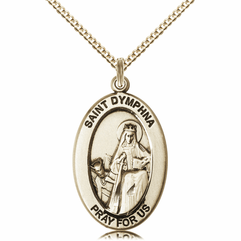 Bliss Mfg Saint Dymphna 14kt Gold-filled Medal Necklace w/Chain