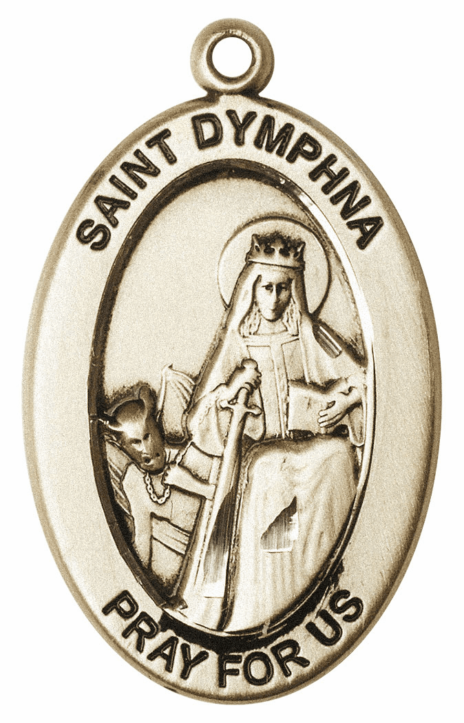 Bliss Mfg Saint Dymphna 14kt Gold Medal Pendant
