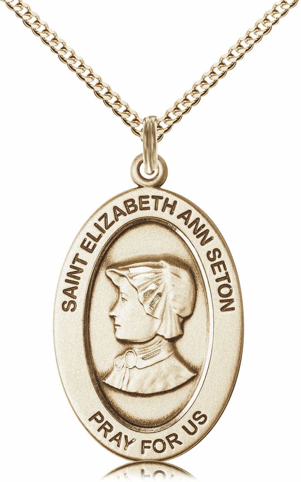 Bliss Mfg Saint Elizabeth Ann Seton 14kt Gold-filled Medal Necklace w/Chain