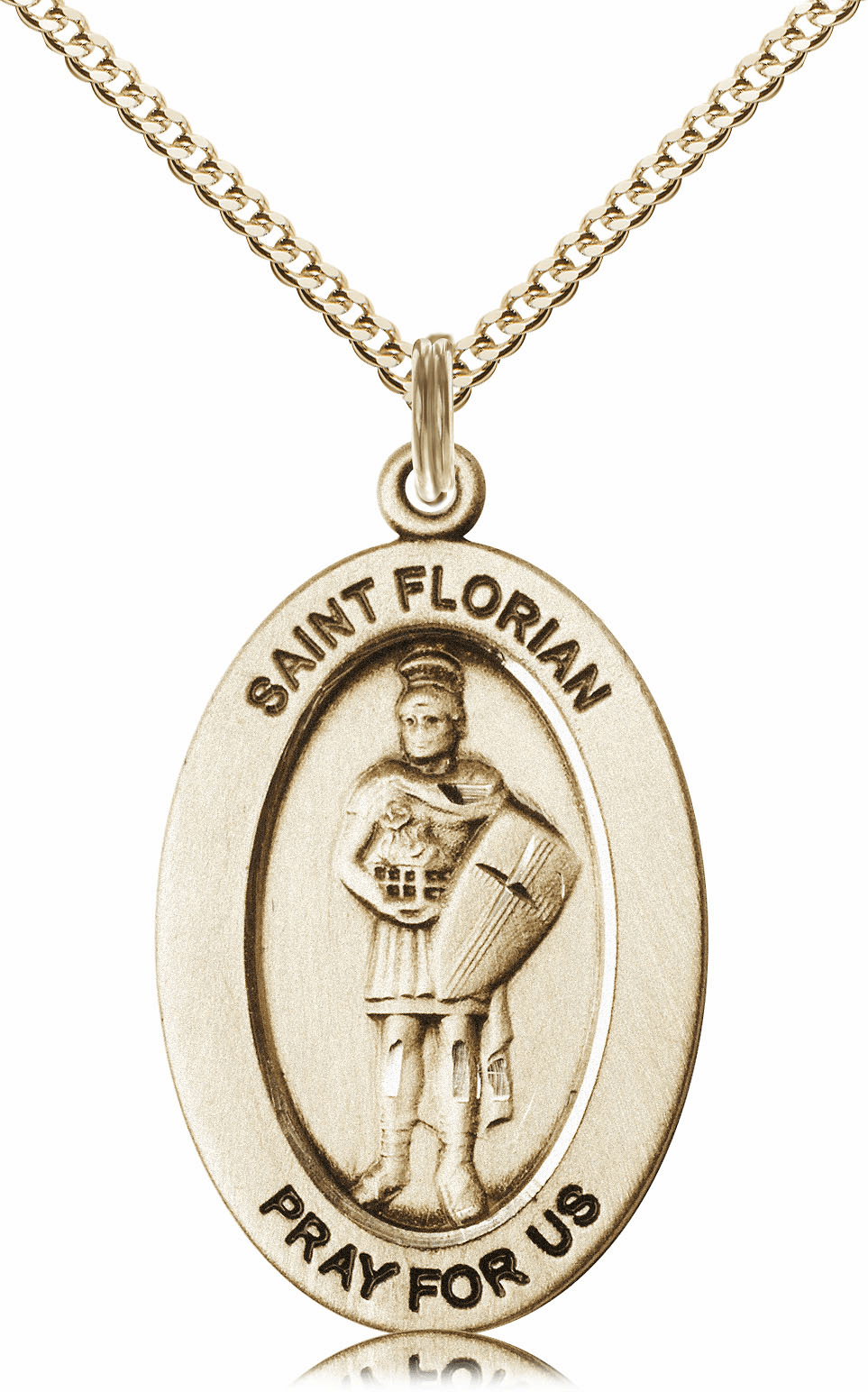 Bliss Mfg Saint Florian 14kt Gold-filled Medal Necklace w/Chain