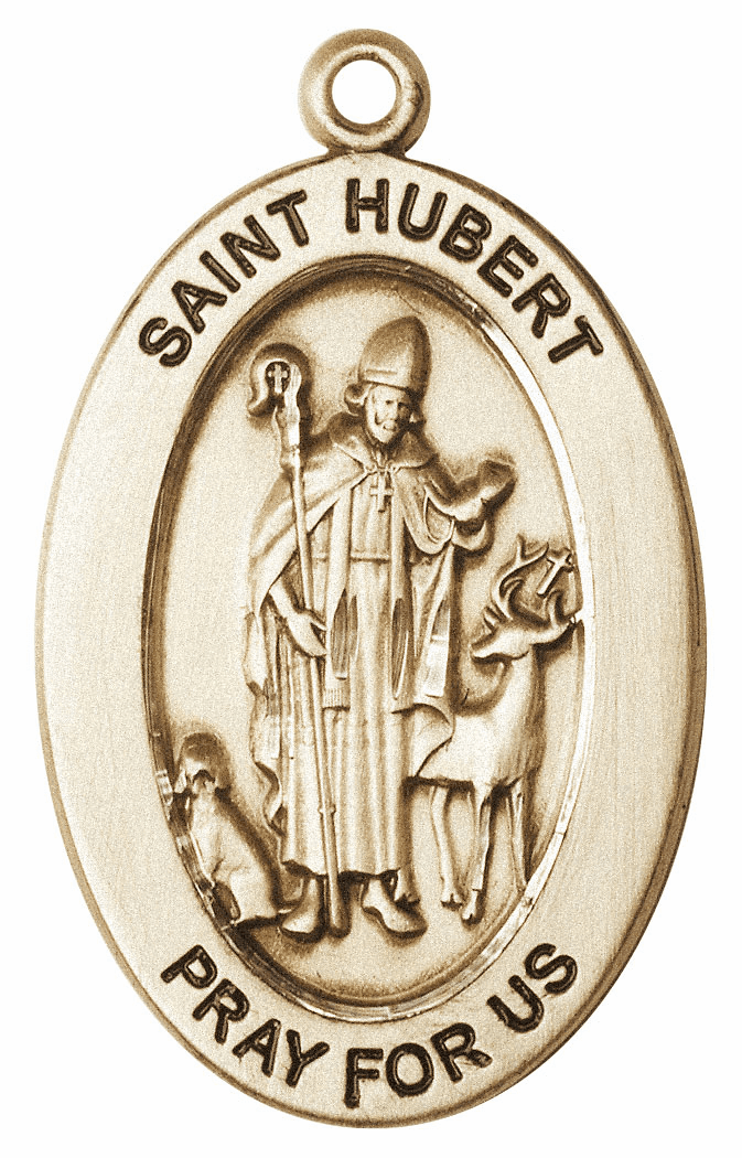 Bliss Mfg Saint Hubert of Liege 14kt Gold Medal Pendant