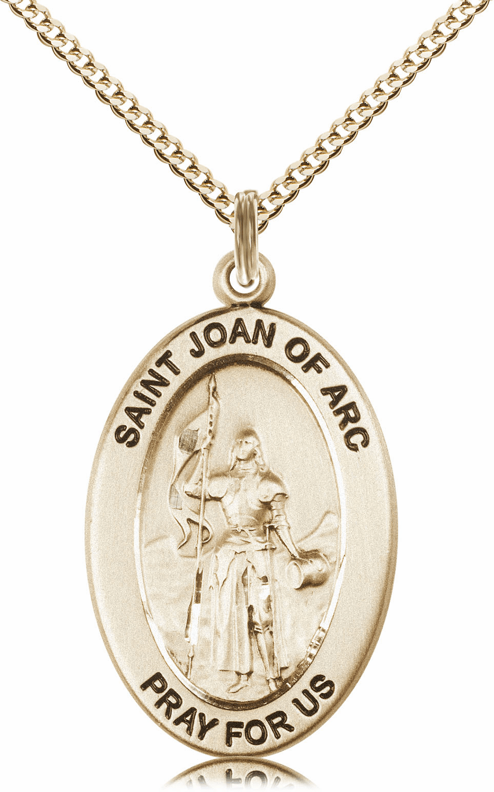 Bliss Mfg Saint Joan of Arc 14kt Gold-filled Medal Necklace w/Chain