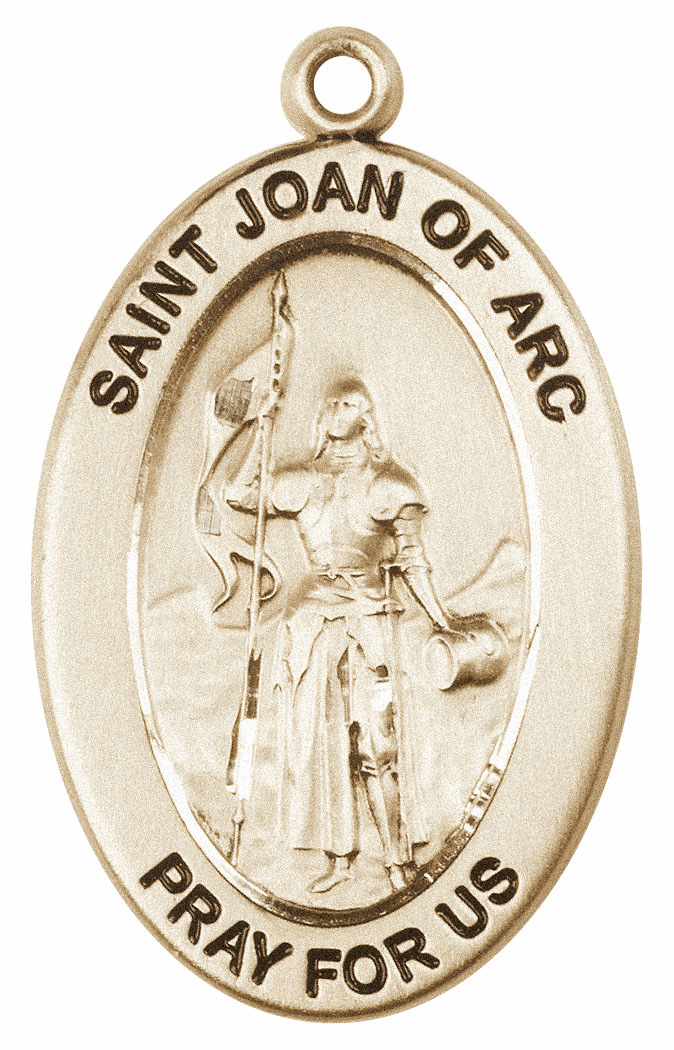Bliss Mfg Saint Joan of Arc 14kt Gold Medal Pendant