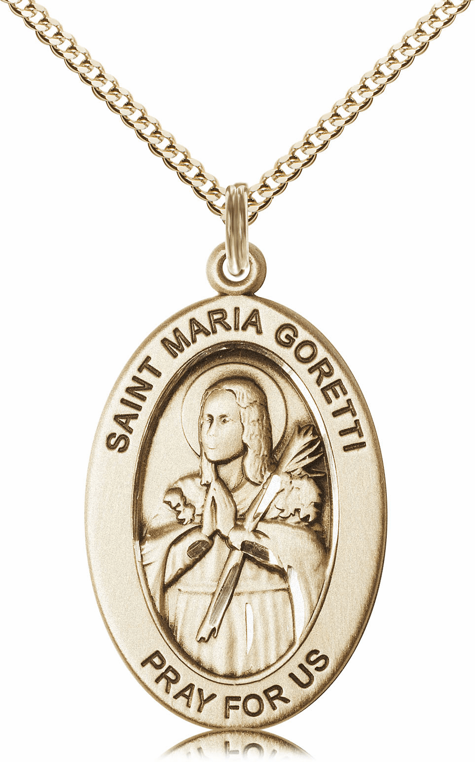 Bliss Mfg Saint Maria Goretti 14kt Gold-filled Medal Necklace w/Chain