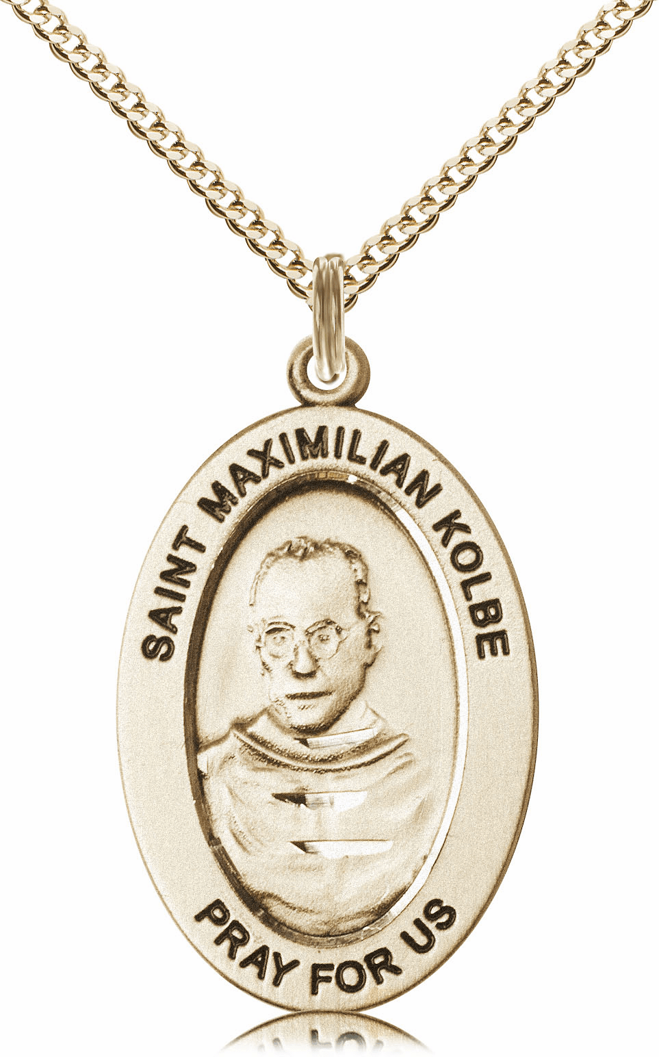 Bliss Mfg Saint Maximilian Kolbe 14kt Gold-filled Medal Necklace w/Chain