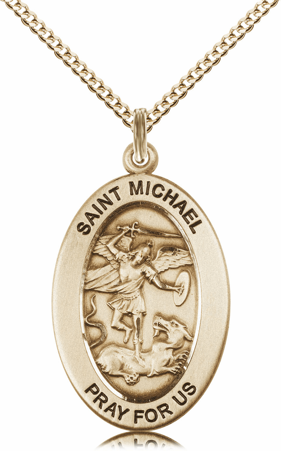 Bliss Mfg Saint Michael the Archangel 14kt Gold-filled Medal Necklace w/Chain
