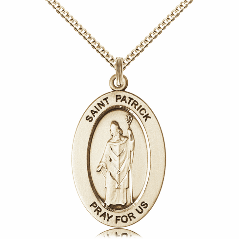 Bliss Mfg Saint Patrick 14kt Gold-filled Medal Necklace w/Chain