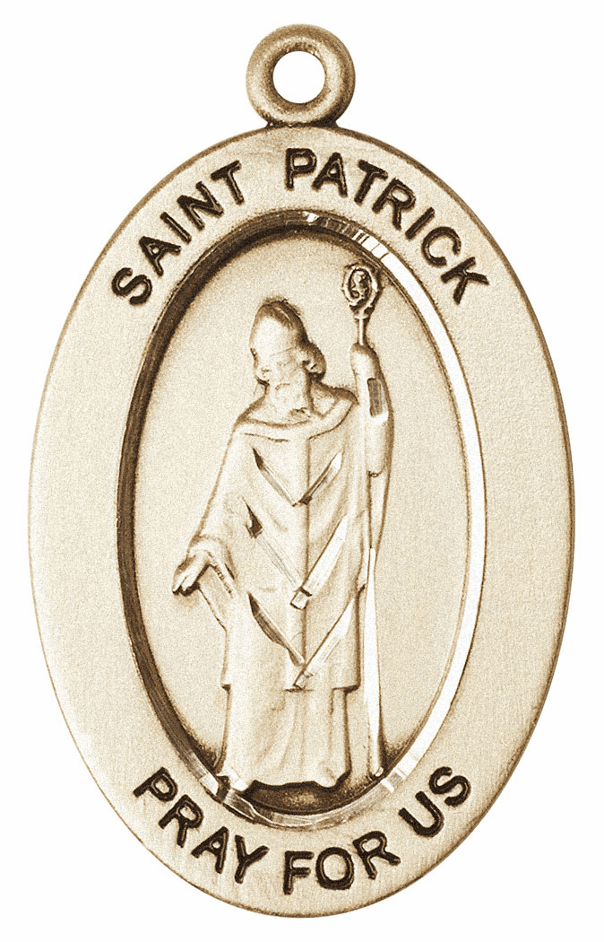 Bliss Mfg Saint Patrick 14kt Gold Medal Pendant