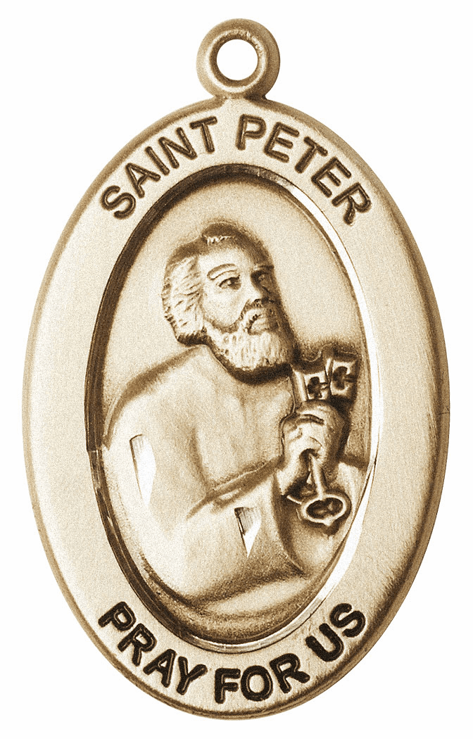 Bliss Mfg Saint Peter the Apostle 14kt Gold Medal Pendant