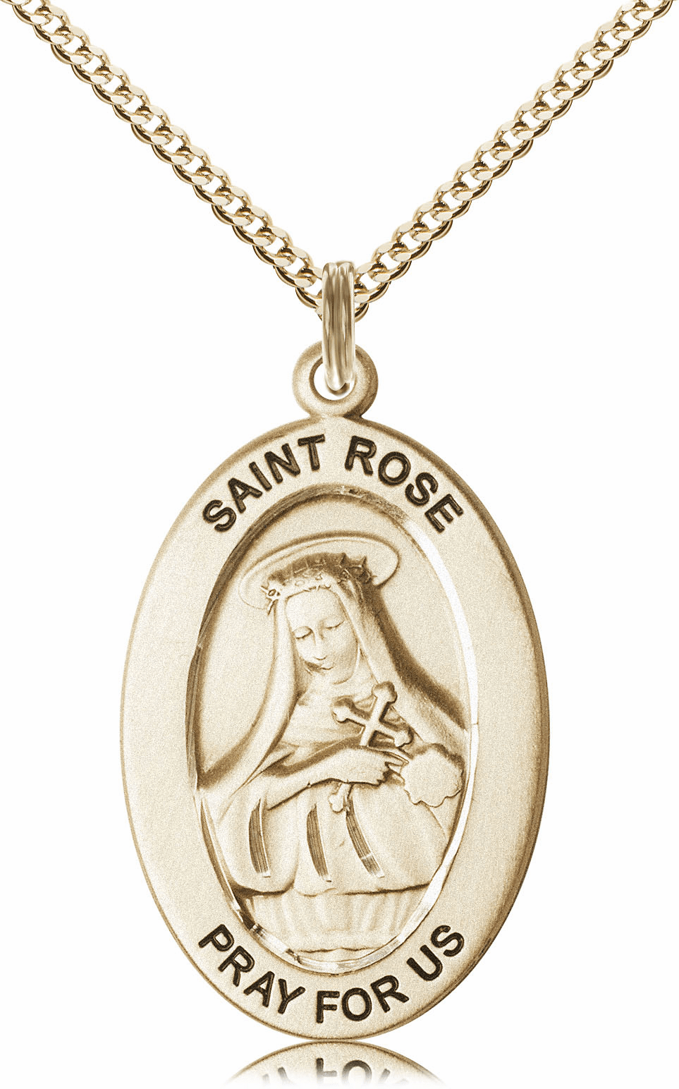 Bliss Mfg Saint Rose of Lima 14kt Gold-filled Medal Necklace w/Chain