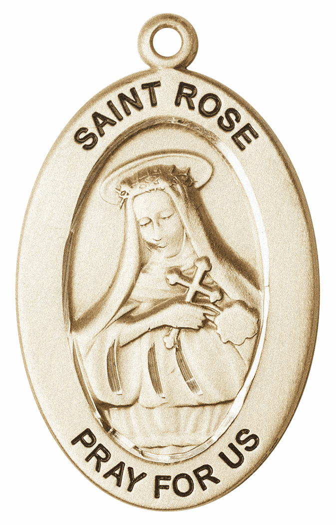 Bliss Mfg Saint Rose of Lima 14kt Gold Medal Pendant