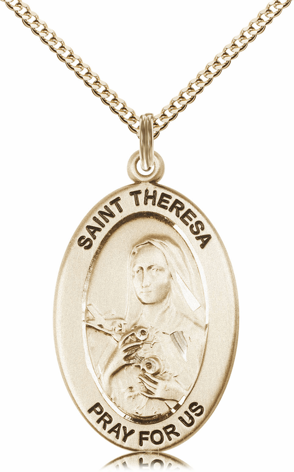 Bliss Mfg Saint Theresa 14kt Gold-filled Medal Necklace w/Chain