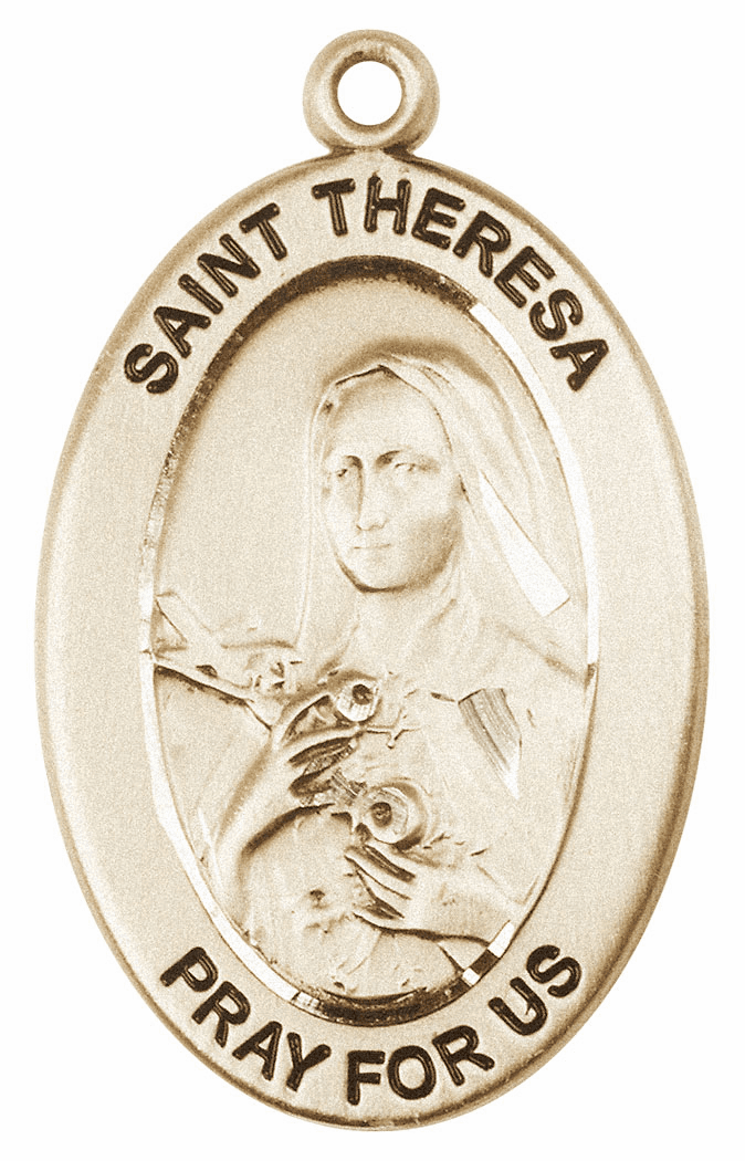 Bliss Mfg Saint Theresa 14kt Gold Medal Pendant