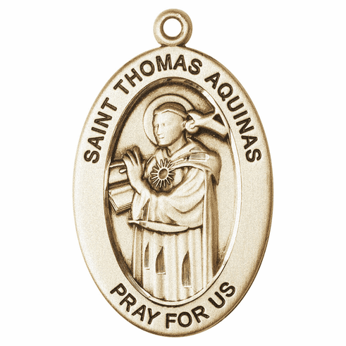 Bliss Mfg Saint Thomas Aquinas 14kt Gold Medal Pendant