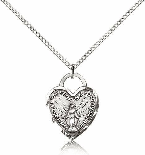 Bliss Mfg Silver-filled Miraculous Heart Pendant Necklace