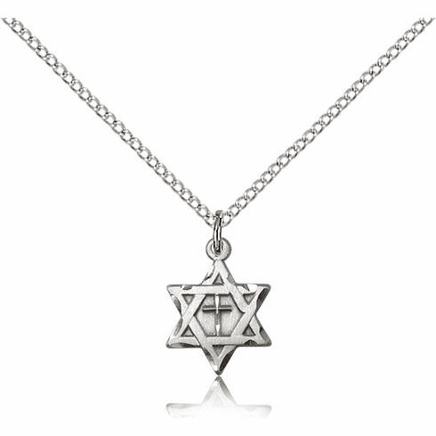 Bliss Mfg Silver-filled Star of David w/ Cross Pendant Necklace