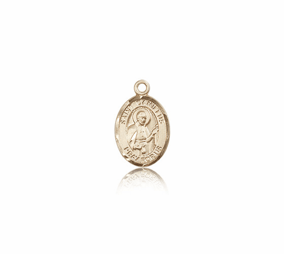 Bliss Mfg Small 14kt Gold St. Camillus of Lellis Patron Saint Medals