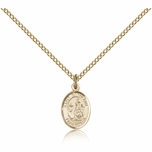 Bliss Mfg Small Gold Filled St. Catherine of Siena Patron Saint Medal