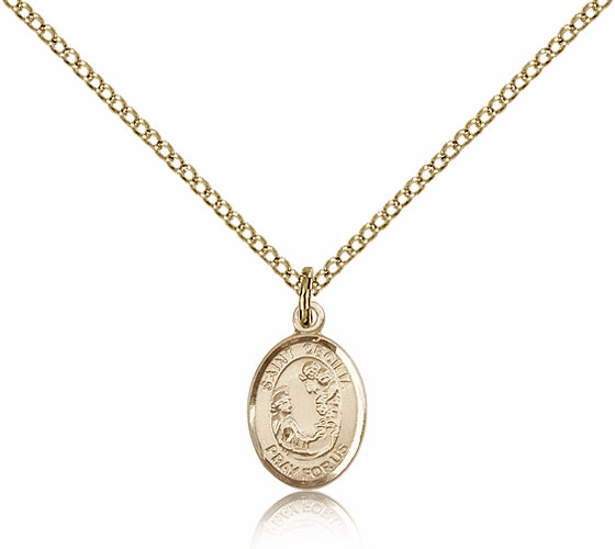 Bliss Mfg Small Gold Filled St. Cecilia Patron Saint Medal