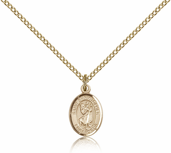 Bliss Mfg Small Gold Filled St. Christopher Patron Saint Medals