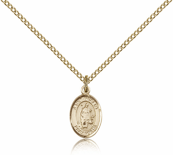Bliss Mfg Small Gold Filled St. Hubert of Liege Pendant