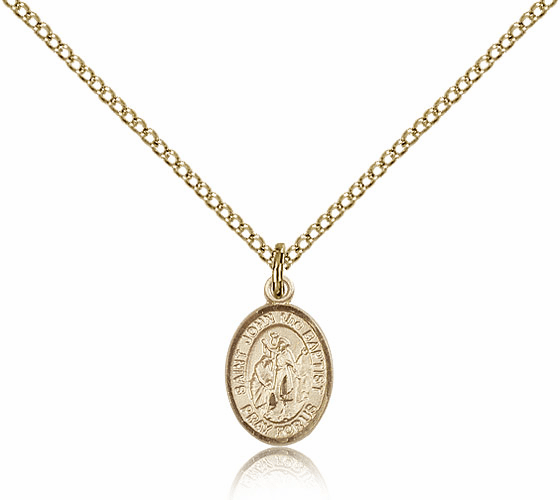Bliss Mfg Small Gold Filled St. John the Baptist Pendant