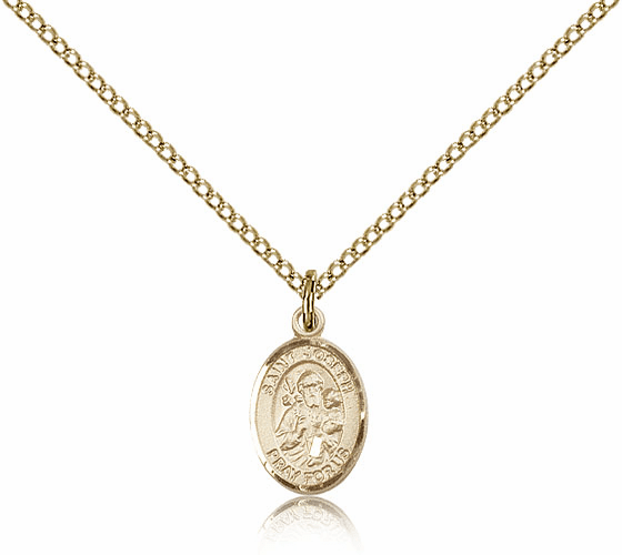 Bliss Mfg Small Gold Filled St. Joseph Pendant