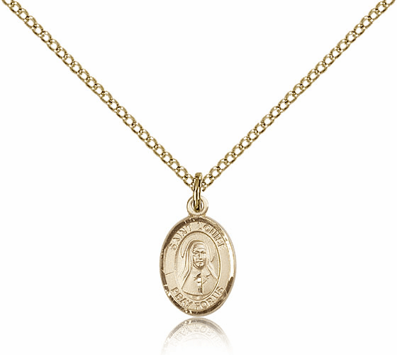 Bliss Mfg Small Gold Filled St. Louise de Marillac Pendant