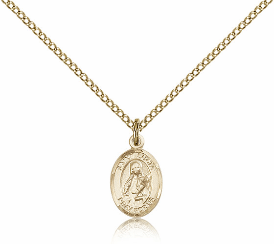 Bliss Mfg Small Gold Filled St. Lucia of Syracuse Pendant