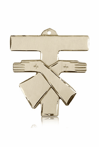 Bliss MFG Solid 14kt Gold Franciscan Tau Cross Pendant