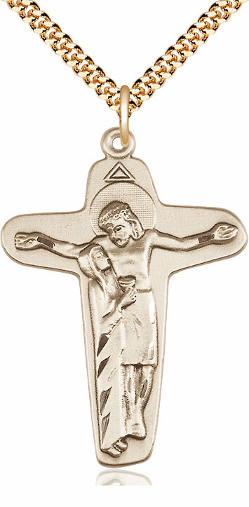 Bliss Sorrowful Mother Gold Filled Crucifix Necklace