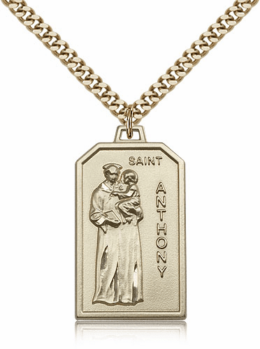 Bliss Mfg. St Anthony 14kt Gold Filled Patron Saint Medal Necklace