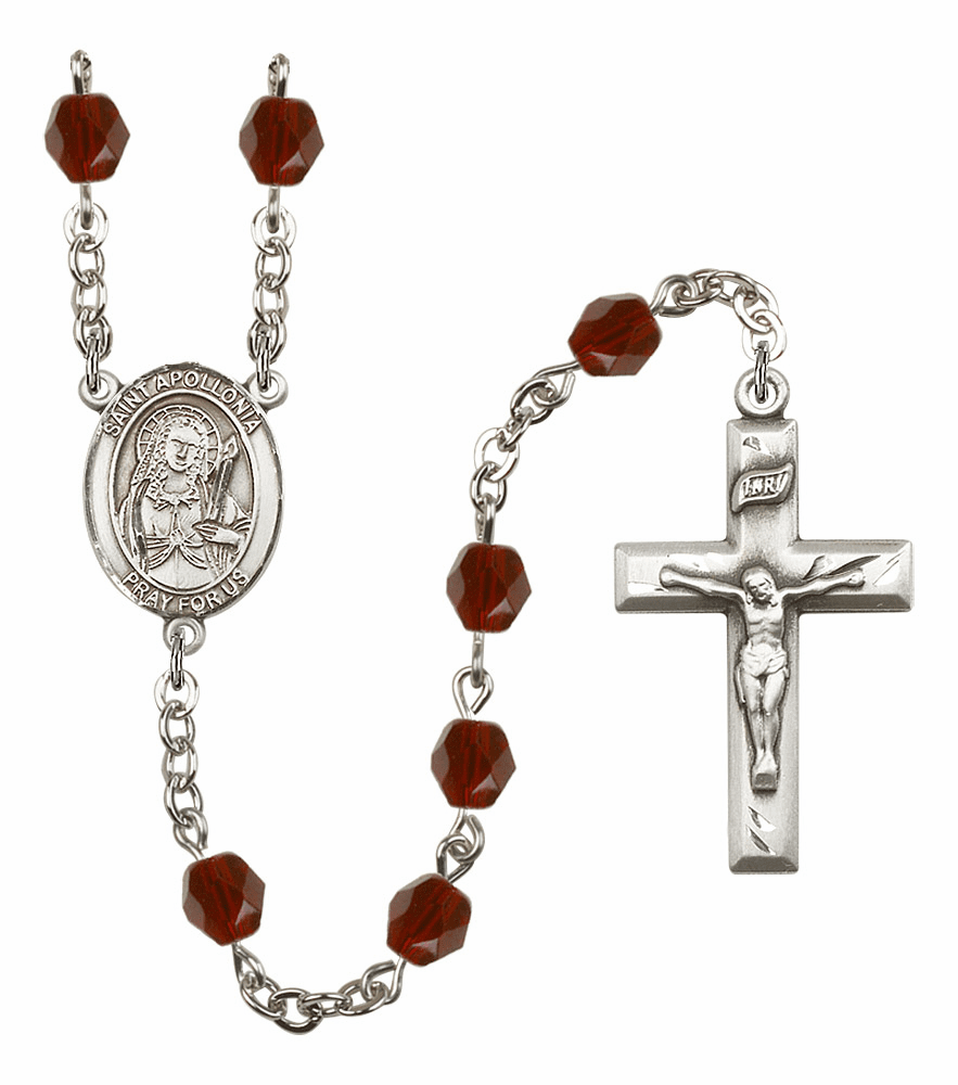 Bliss Mfg St Apollonia January Garnet Birthstone Rosary
