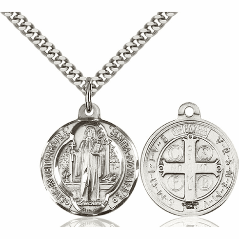 Bliss St Benedict and Monks and Poison Sufferers Medal Necklace
