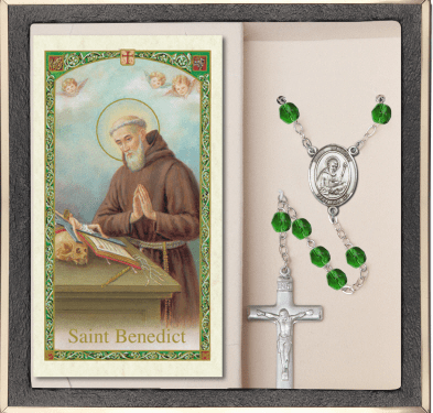 Bliss Mfg St Benedict Prayer Rosary with Holy Card