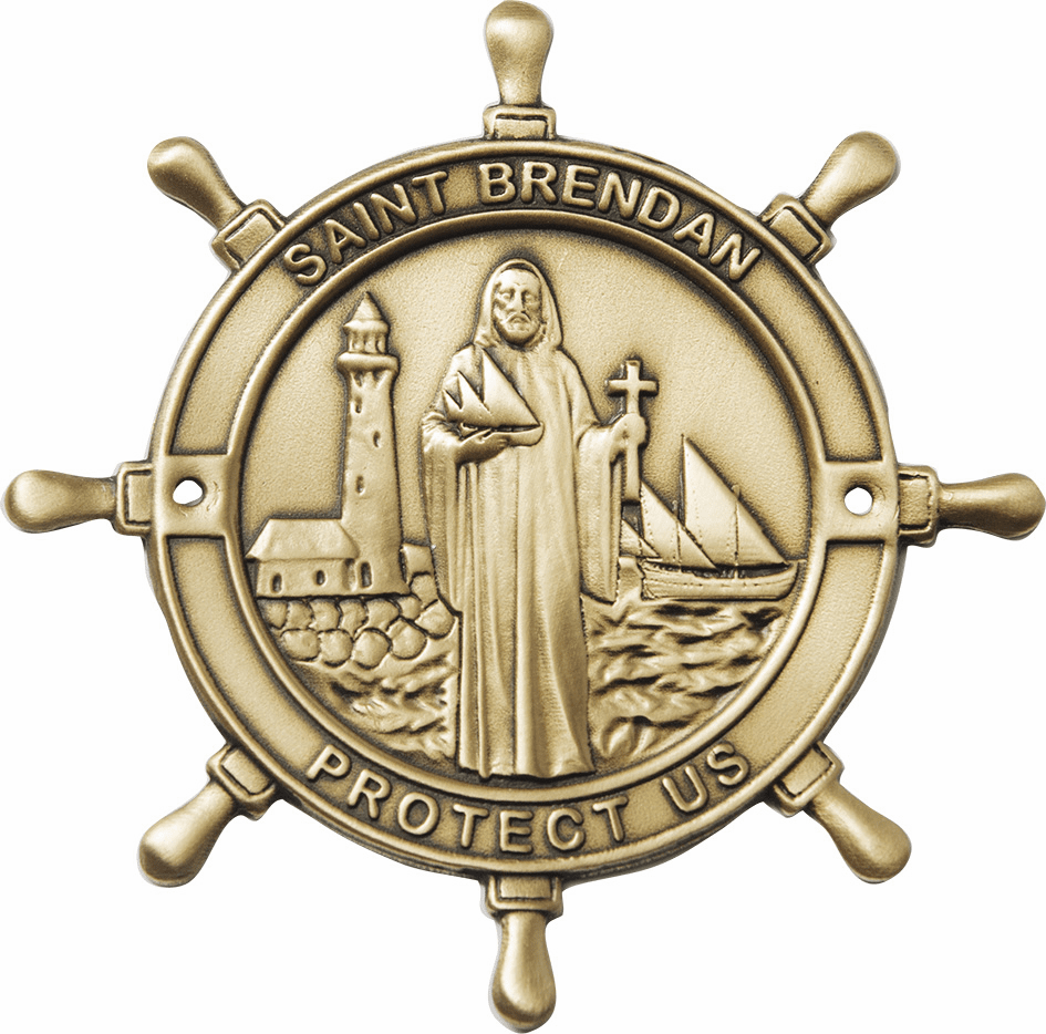 Bliss Mfg St Brendan Patron Saint Boat Plaque