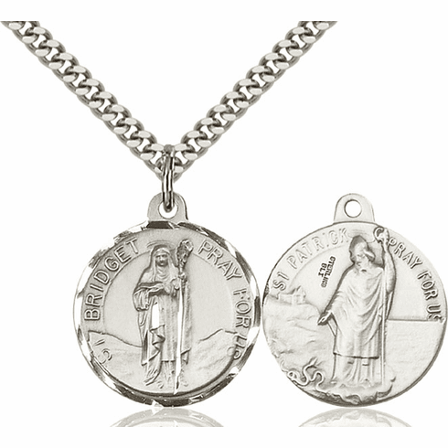 Bliss St Bridget and St Patrick Medal Necklace