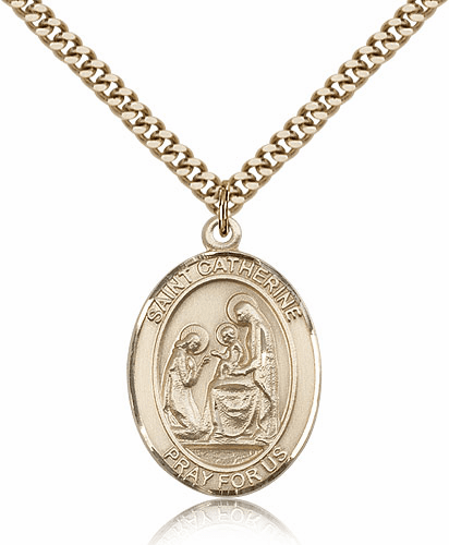 Bliss Mfg St Catherine of Siena Patron Saint Medal Necklace