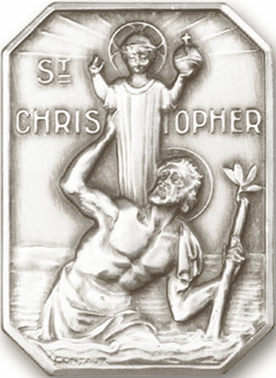 Bliss Mfg St Christopher and Child Jesus Auto Visor Clip