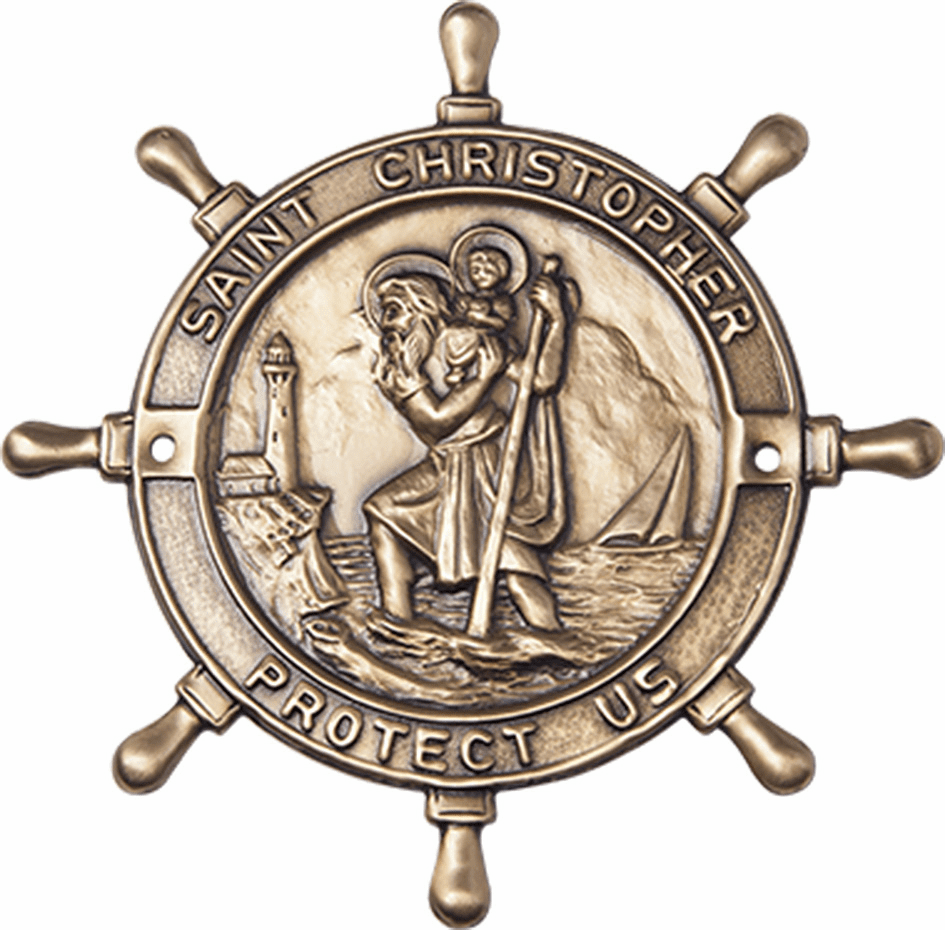Bliss Mfg St Christopher Patron Saint Boat Plaque