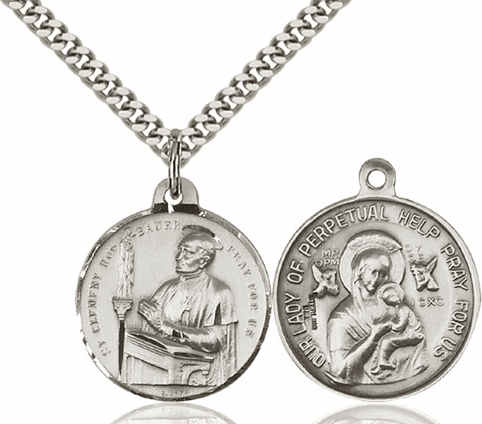 Bliss St Clement Hofbauer and O/L of Perpetual Help Medal Necklace