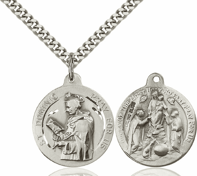 Bliss St Dominic and Holy Rosary Medal Necklace
