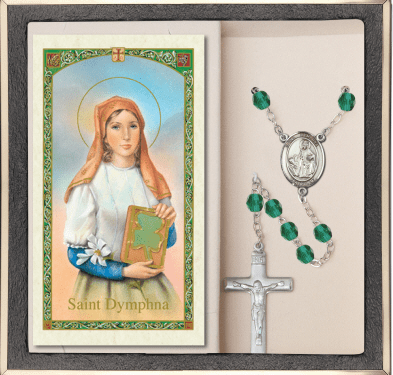 Bliss Mfg St Dymphna Rosaries with Holy Prayer Cards