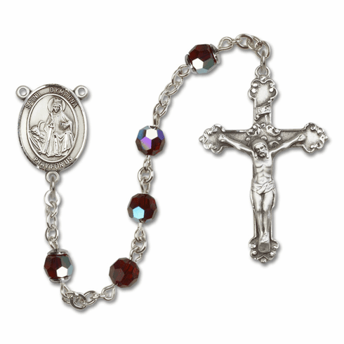 Bliss St Dymphna Sterling and Gold Swarovski Rosaries - More Colors