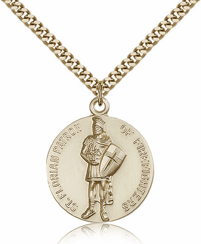 Bliss Mfg. St. Florain 14kt Gold-Filled Patron Saint Pendant Necklace