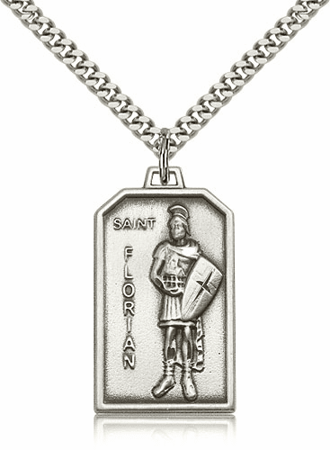 Bliss Mfg. St Florian Sterling Silver Patron Saint Medal Pendant