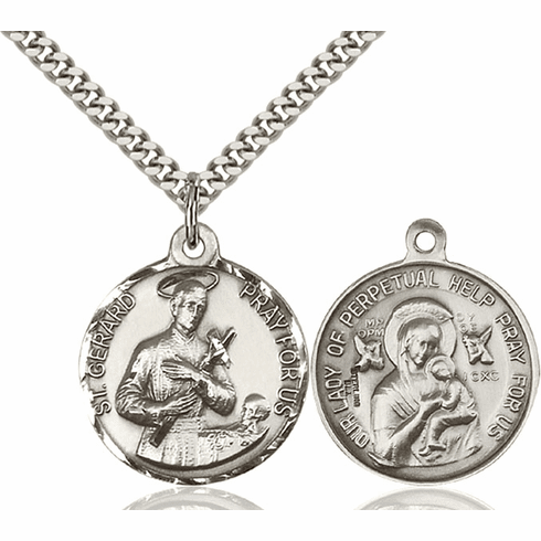 Bliss St Gerard and O/L of Perpetual Help Medal Necklace